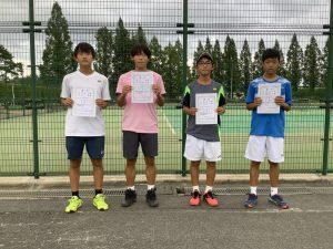第74回福島県総合体育大会テニス競技スポーツ少年団の部中学生男子ダブルス入賞者