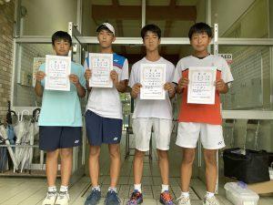 第74回福島県総合体育大会テニス競技スポーツ少年団の部中学生男子ダブルス入賞者3