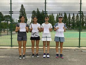 第74回福島県総合体育大会テニス競技スポーツ少年団の部中学生女子シングルス入賞者