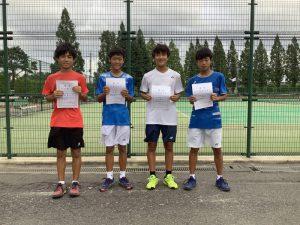第74回福島県総合体育大会テニス競技スポーツ少年団の部中学生男子シングルス入賞者
