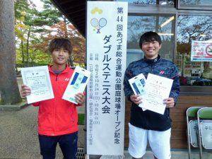 第44回あづま総合運動公園庭球場オープン記念ダブルステニス大会一般男子優勝